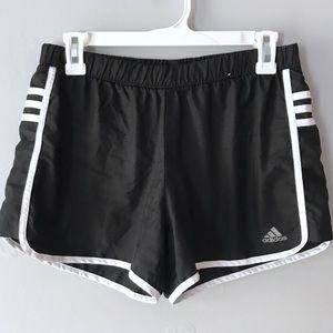 EUC Adidas Climalite black white active shorts M